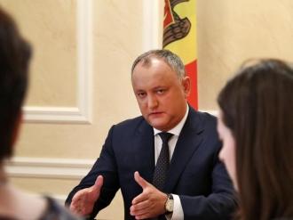 Игорь Додон провел заседание по созданию Совета гражданского общества при Президенте Республики Молдова