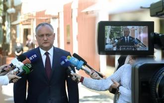 Igor Dodon, la o discuție liberă cu jurnaliștii