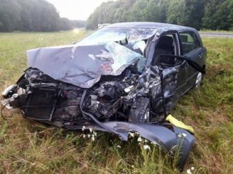 Четыре человека пострадали в столкновении автомобилей на встречке у села Кондрица