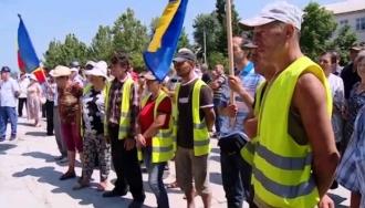 В Чимишлии проходят массовые протесты
