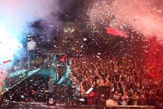 Десятки тысяч человек приняли участие в организованном под эгидой президента концерте