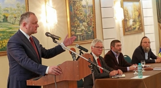 """Igor Dodon, prezent la lansarea cărții """"Zidul de Vest nu a căzut"""""""