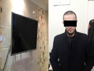 В Кишинёве бывшего наркодилера арестовали за кражу телевизора