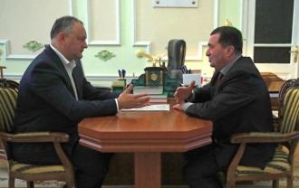 Igor Dodon a avut o întrevedere cu preşedintele raionului Taraclia