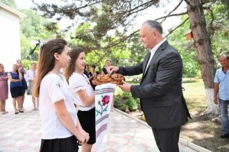 Президент страны посетил детский сад «Stejărel» из села Зориле Оргеевского района