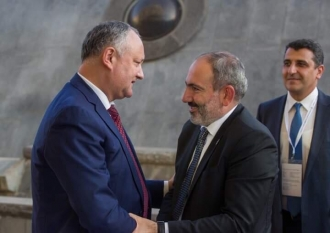 Додон поблагодарил руководство Армении за поддержку при предоставлении Молдове статуса наблюдателя при ЕАЭС