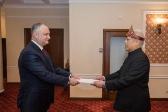 В Молдове аккредитованы 5 новых иностранных послов
