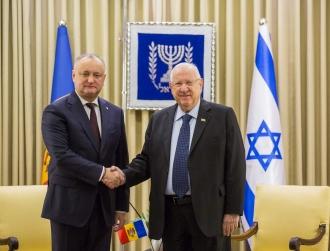 Додон пригласил президента Израиля посетить с визитом Молдову (ВИДЕО)