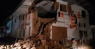 Мощное землетрясение в Перу