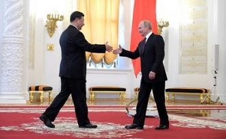 Российско-китайские переговоры в Кремле