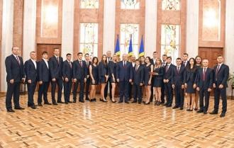Президент встретился  со студенческой сборной Республики Молдова