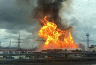Пожар рядом с ТЭЦ