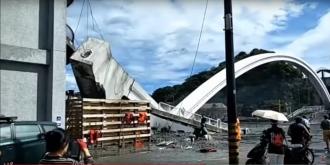Обрушение моста на Тайване: есть пострадавшие