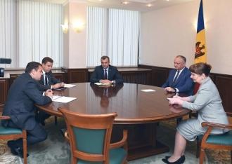 Президент Игорь Додон встретился с Миссией МВФ