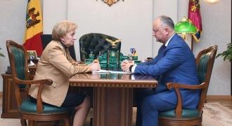 Президент Игорь Додон встретился с председателем парламента Зинаидой Гречаный