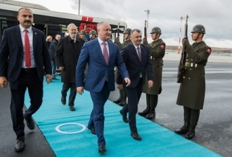 Президент Республики Молдова совершает официальный визит в Турецкую Республику