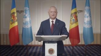 Президент Республики Молдова Игорь Додон выступил на заседании  Генеральной Ассамблеи, посвященном 75-летию Организации Объединенных Наций