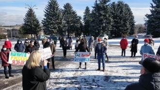 В Окнице и Бричанах прошли митинги протеста против решения Конституционного суда
