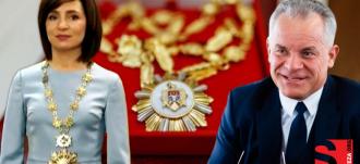Майя Санду оставила Владу Плахотнюку высший орден Молдовы