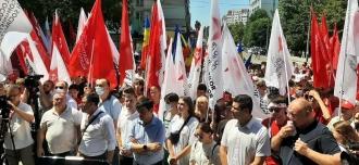 Несколько тысяч граждан протестуют у ВСП против закрытия избирательных участков на левом берегу Днестра