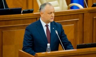 Заявление Игоря Додона в день избрания руководства парламента XI созыва