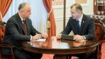 Игорь Додон принял участие в еженедельном совещании с Ионом Кику