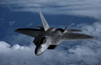 Четыре американских истребителя пятого поколения F-22 пролетели над Южной Кореей