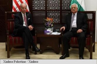 Violența, în centrul discuțiilor dintre vicepreședintele american Biden și liderul palestinian Abbas
