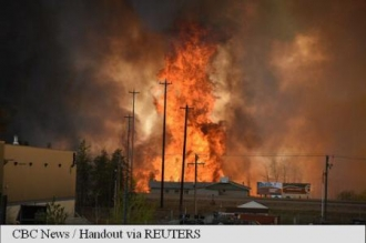 Canada: Un oraș a fost evacuat din cauza unui incendiu în provincia Alberta