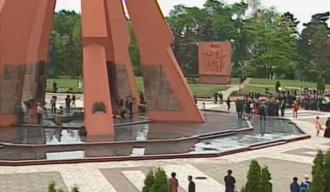 """La complexul memorial """"Eternitate"""" au avut loc depuneri de flori în memoria eroilor celui de-al Doilea Război Mondial"""