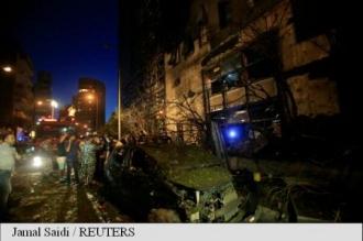 Liban: O mașină a explodat în apropierea sediului unei bănci din Beirut