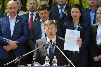 Primarul capitalei își prezintă raportul pentru cei 9 ani de activitate la cîrma Primăriei
