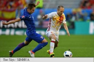 EURO 2016: Campioana en titre Spania, învinsă de Croația cu 2-1