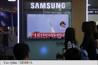 Racheta nord-coreeană a căzut în Marea Japoniei (Pentagon)