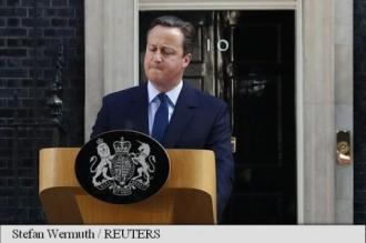 Premierul britanic David Cameron anunță că va demisiona
