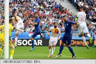 EURO 2016: Italia a învins campioana europeană Spania cu 2-0 și s-a calificat în sferturi