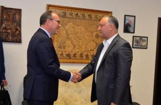 Igor Dodon către ambasadorul României: Socialiştii nu au fost niciodată antiromâni, dar sunt şi vor fi întotdeuna antiunionişti