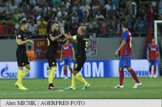 Steaua București, surclasată de Manchester City cu 5-0, la București, în play-off-ul Ligii Campionilor