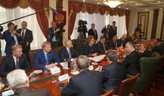 Delegația moldovenească s-a întîlnit cu Valentina Matvienco