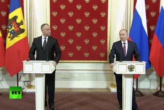 Perspectivele de impulsionare a comerţului dintre Rusia și RM discutate de Igor Dodon și Vladimir Putin