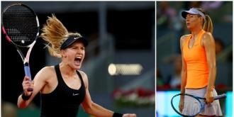 Sharapova, eliminată de Bouchard de la Madrid. Jucătoarea din Canada și-a