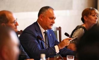 Ședința Consiliului economic pe lîngă președintele țării, convocată de Igor Dodon