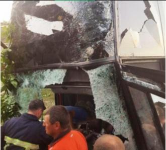 Un autobuz plin cu moldoveni, implicat într-un accident în Ucraina