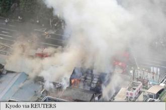 Un incendiu a distrus o parte din celebra piață de pește din Tokyo
