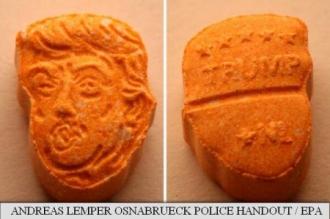 Poliția germană a confiscat 5.000 de pastile de ecstasy având imprimate pe ele chipul lui Trump