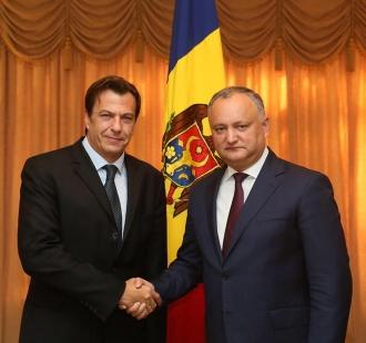 Igor Dodon s-a întâlnit cu șeful Oficiului Consiliului Europei la Chișinău