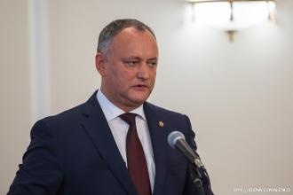 Igor Dodon: Candidatul coaliției de guvernare la funcția de ministru al apărării nu va fi acceptat