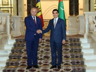 Igor Dodon și Gurbangulî Berdîmuhamedov au discutat despre potențialul de colaborare dintre Moldova și Turkmenistan