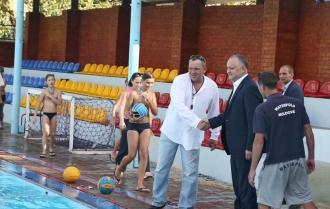 """Pregătirile pentru Campionatul internațional de polo pe apă """"Cupa Președintelui"""", pe ultima sută de metri"""