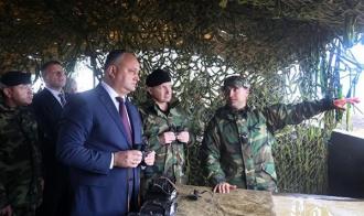 """Șeful statului, prezent la exercițiul """"Scutul de foc 2017"""""""